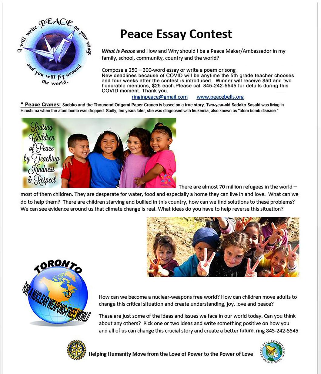 Peace 5th grade Essay Contest web